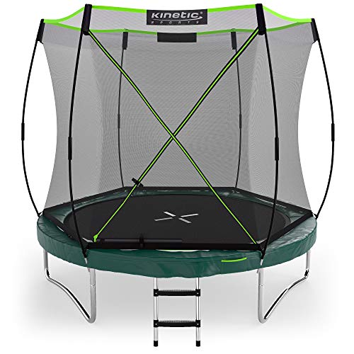 Kinetic Sports Ø 244 cm Gartentrampolin TBSE800 / grün