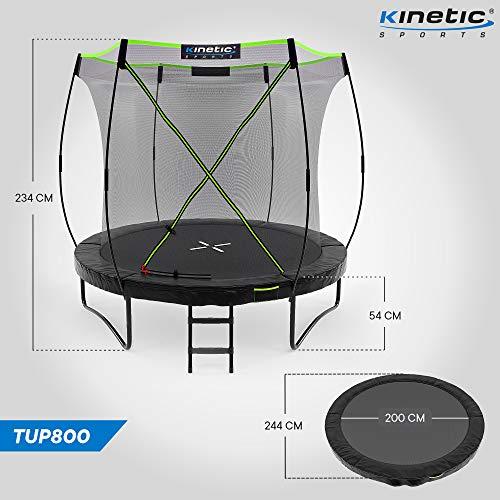 Kinetic Sports Gartentrampolin TUP800, 244 cm, Black - 7