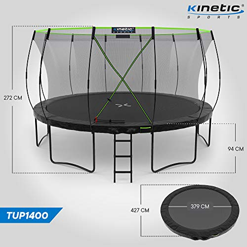 Kinetic Sports Gartentrampolin TUP1400, 427 cm, Black - 7