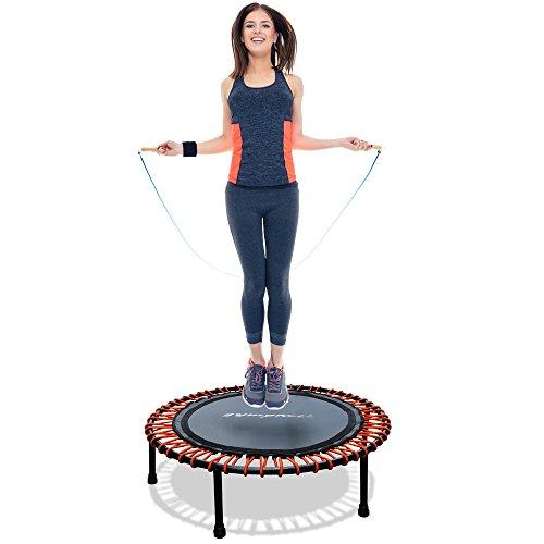 Fitness Power mini Trampolin mit Griff Gesundheitstrampolin Haltegriff Gummiseil -